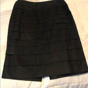 KENAR thin black knee length skirt